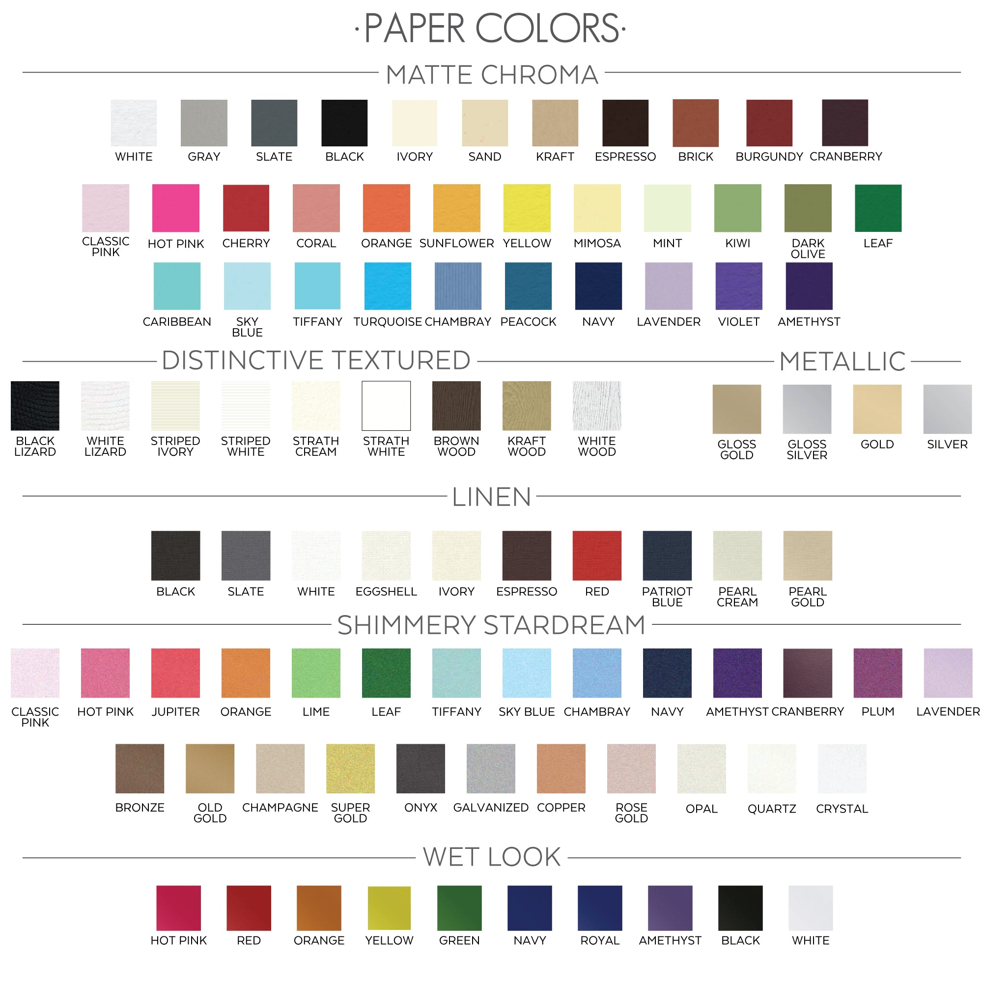 xx paper colors
