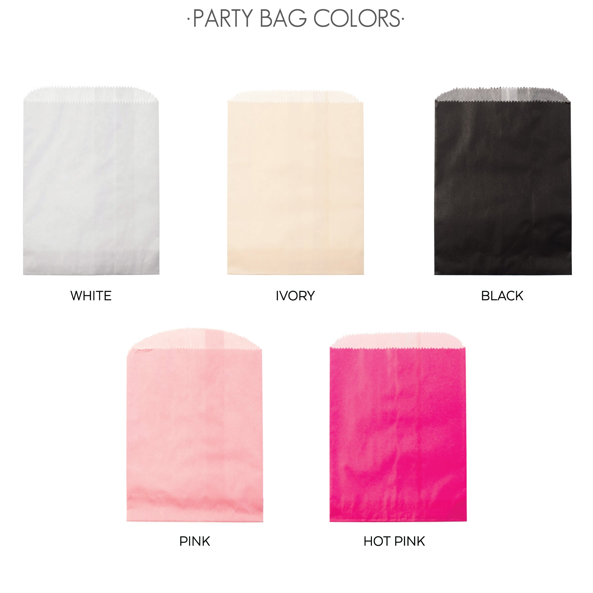 PARTY BAG COLORS