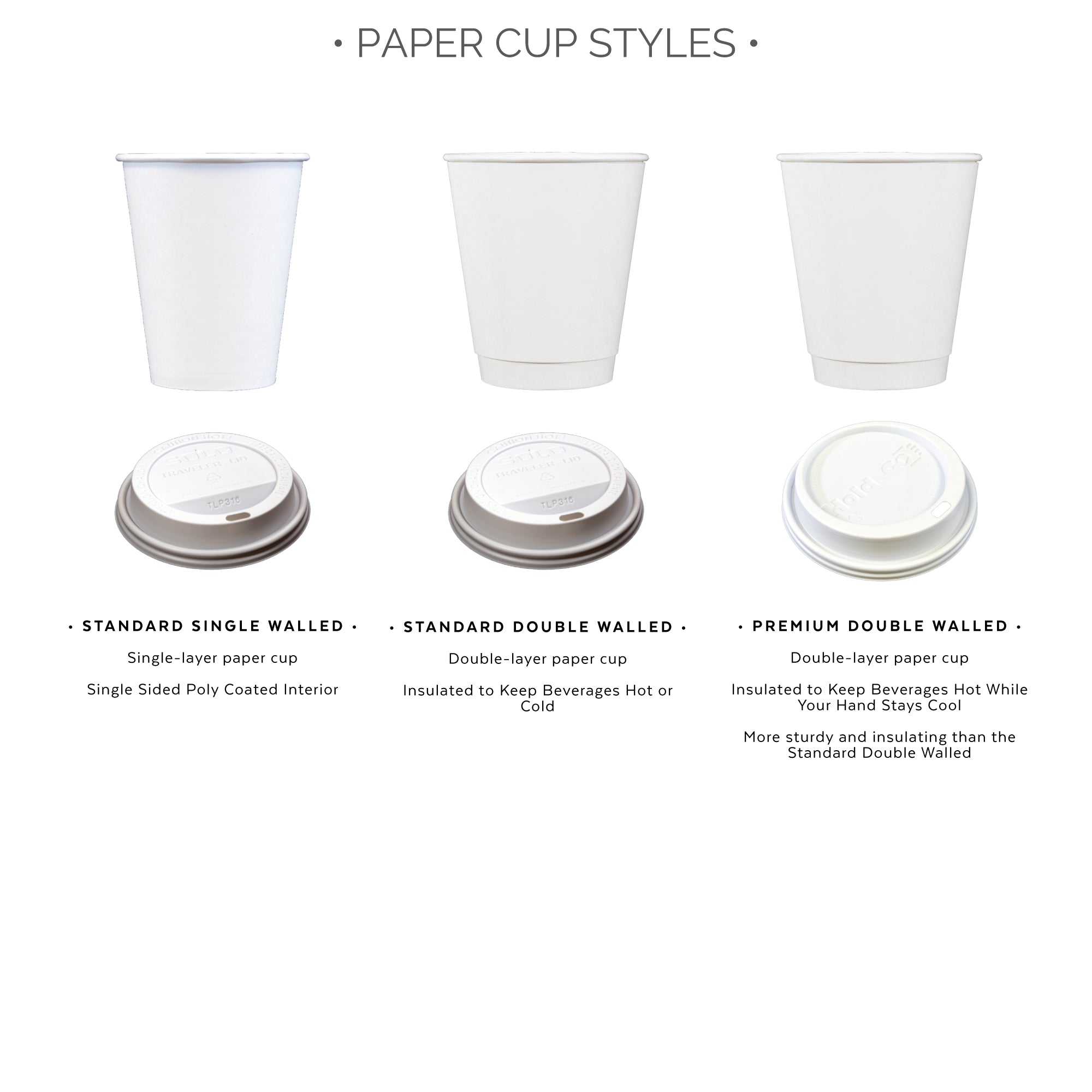 paper cup styles
