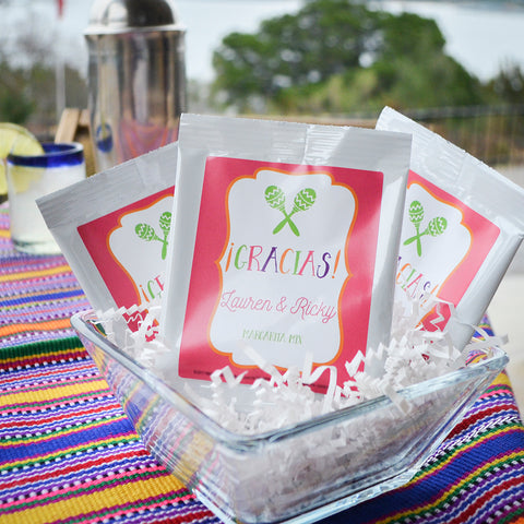 wedding drink snack favors