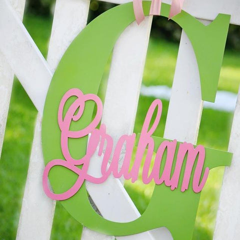 personalized hanging monograms
