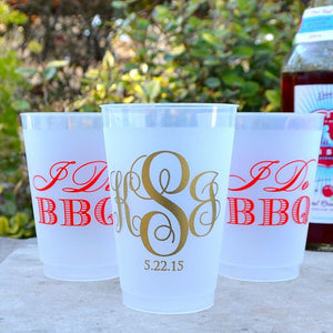 I Do BBQ Personalized Shatterproof Cups