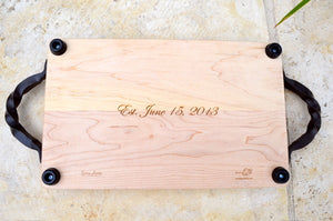 Custom Rectangular Maple Cheese Board