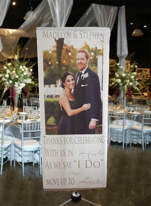 Custom Wedding Photo Banner