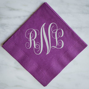 Monogram Wedding Napkins - Set of 100