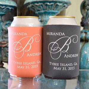 Custom Printed Wedding Can Huggers