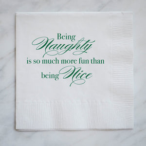 Naughty and Nice Christmas Napkins - Set of 100