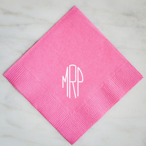 Contemporary Personalized Napkins - set of 100