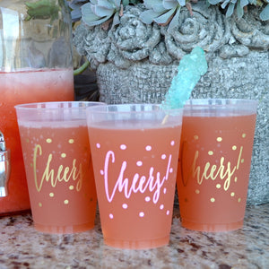Custom Designed Cheers Frost Flex Cups
