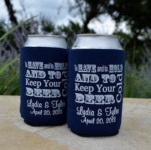 "Party Favor ""To Have and To Hold"" Can Coolers"