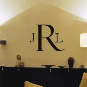 Classic Monogram Decorative Wall Decal
