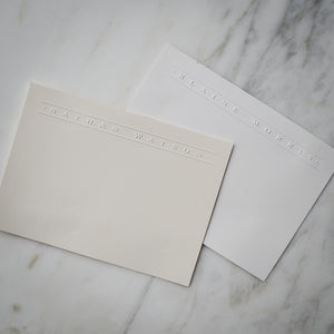 Embossed Personalized Stationery