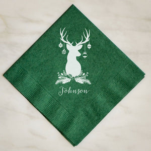Christmas Holiday Deer Napkins - 100