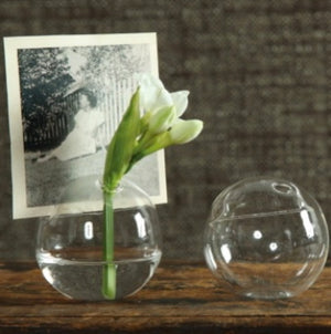 Glass Bubble Vase Placecard Holder
