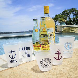 Custom Nautical Shatterproof Party Cups