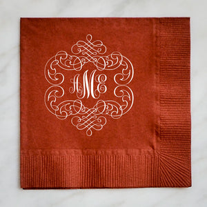 Script Monogram Napkins - Set of 100