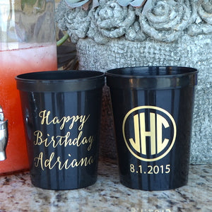 Personalized Nautical Stadium Plastic Cups