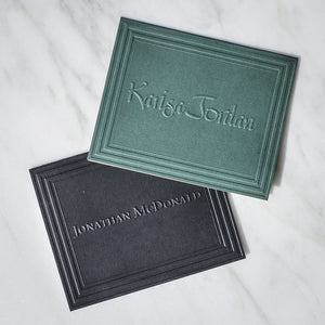 Embossed Colored Monogram Notes - 100 Piece Set