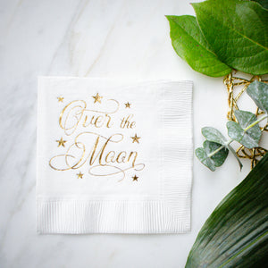Over the Moon Baby Shower Napkin