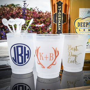 Custom Monogram or Duogram Shatterproof Party Cups