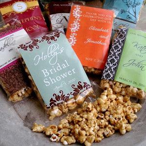 Personalized Caramel Popcorn Favors