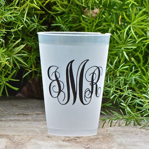 Monogrammed Shatterproof Party Cups