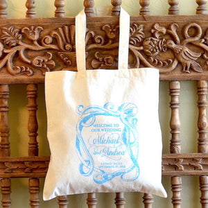 Custom Canvas Wedding Welcome Tote Bag - $7.50+