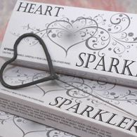 Heart Shaped Wedding Sparklers - Set of 6