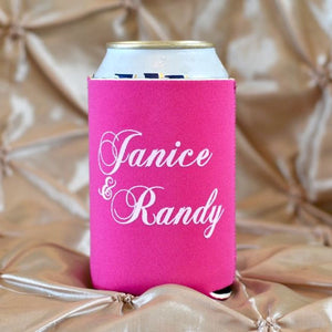 Custom Party Favor Can & Bottle Coolers with Names