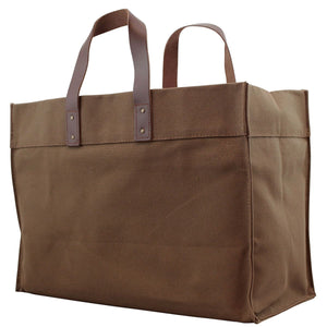 Modern Canvas & Leather Tote