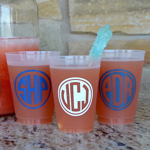 Custom Frost Flex Plastic Cups with Names
