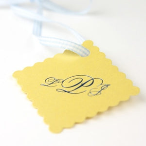Custom Scalloped Wedding Favor Tag