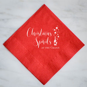 Personalized Christmas Spirit Napkins - Set of 100