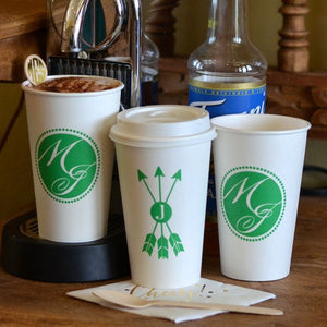 Personalized Paper Coffee Cups - set of 50