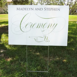 Custom Ceremony Direction Sign