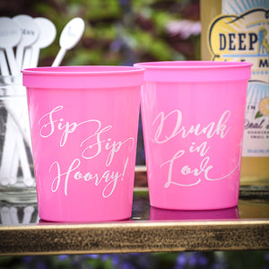 Personalized Bridal Party Cups
