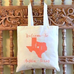 Custom Printed Wedding Welcome Tote Bag - $7.50+