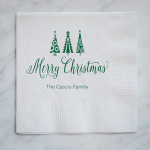 Personalized Holiday Party Napkins - Set of 100