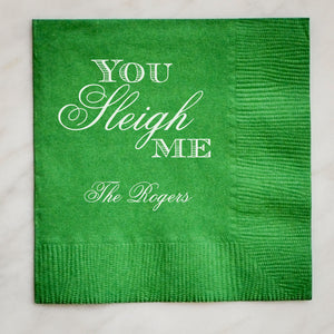 "100 Funny Holiday ""You Sleigh Me"" Napkins"