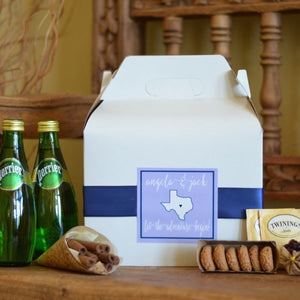 Preppy Wedding Hotel Welcome Boxes