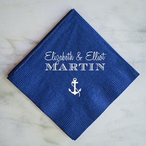 Custom Napkins with Names - Set of 100