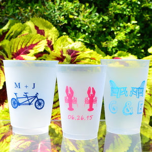 Custom Printed Frost Flex Wedding Cups