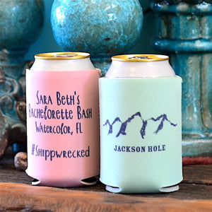 Let the Adventure Begin Wedding Favor Can Coolers