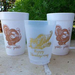 Thanksgiving Printed Party Cups - Set of 10