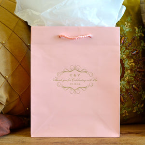 Printed Wedding Welcome Bags with Border