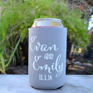 Collapsible Custom Can Coolers with Names