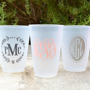 Monogram Personalized Shatterproof Cups