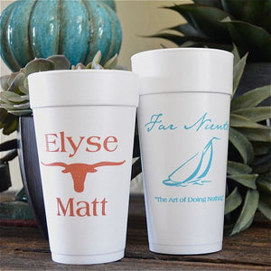 Personalized Styrofoam Cups