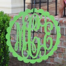 Metal Scallop Framed Monogram