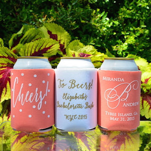Custom Printed Wedding Can Coolers